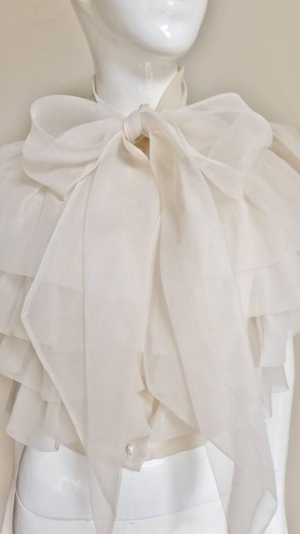 Ethereal 1960's Ruffle Blouse 3