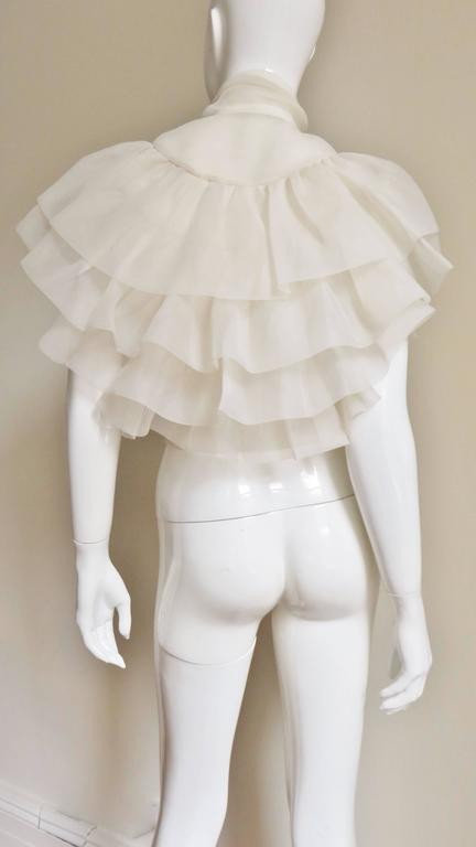 Ethereal 1960's Ruffle Blouse For Sale 5
