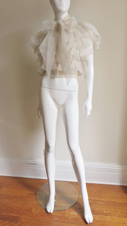 Ethereal 1960's Ruffle Blouse For Sale 2