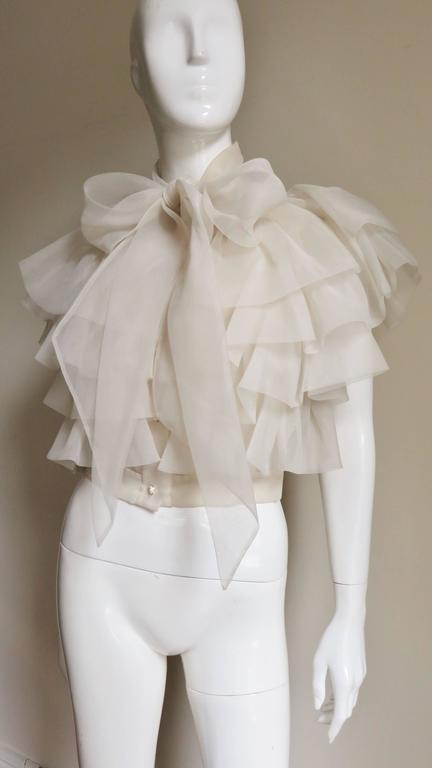 Women's Ethereal 1960's Ruffle Blouse For Sale