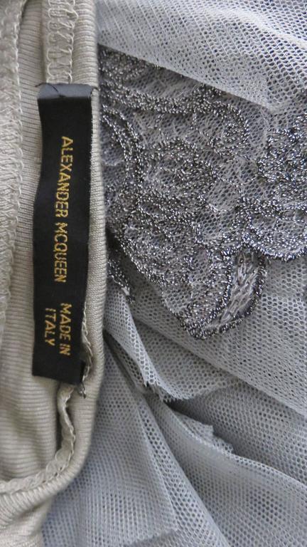 Fabulous Alexander McQueen Net Sleeve Silk Top 8