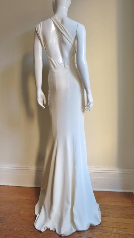J Mendel Fabulous One Shoulder Slash Front Gown 9