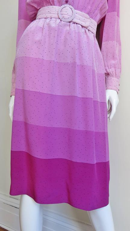1970s Louis Feraud Silk Dress In Good Condition For Sale In New York, NY