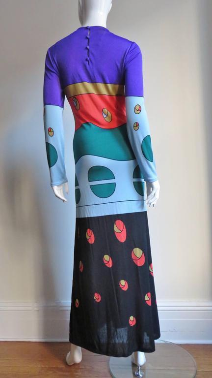1970s Louis Feraud Mod Maxi Dress For Sale 2