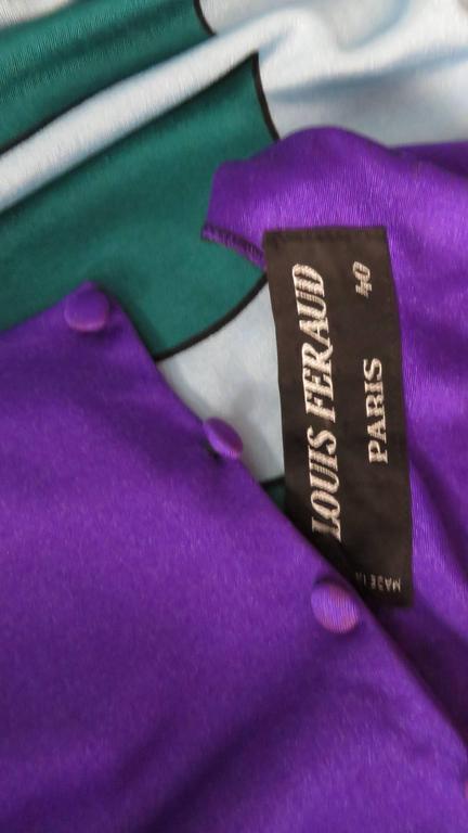 1970s Louis Feraud Mod Maxi Dress For Sale 3