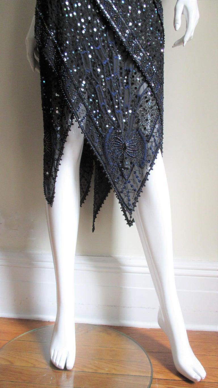 1970s Exquisite Zandra Rhodes Beaded Silk Dress  For Sale 4