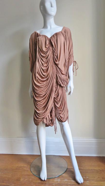 1990s Dolce & Gabbana Drawstring Drape Dress For Sale 1