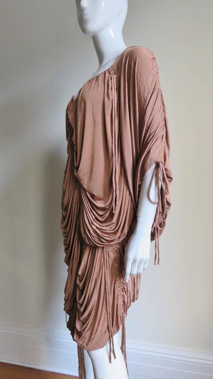 1990s Dolce & Gabbana Drawstring Drape Dress For Sale 2