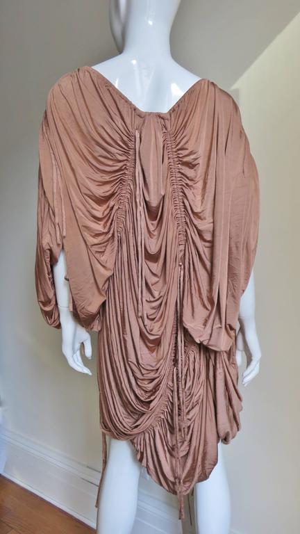 1990s Dolce & Gabbana Drawstring Drape Dress For Sale 3
