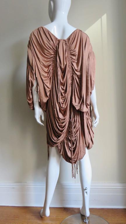 1990s Dolce & Gabbana Drawstring Drape Dress For Sale 4