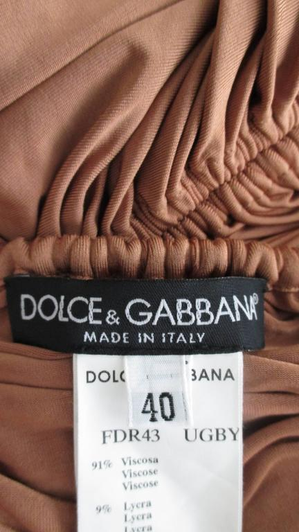 1990s Dolce & Gabbana Drawstring Drape Dress For Sale 5