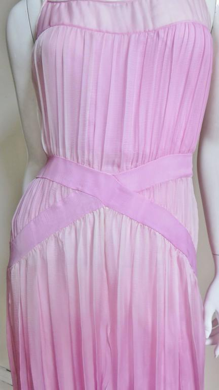 Women's 2000s John Galliano Pink Silk Ombre Dress For Sale