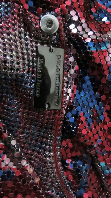 Paco Rabanne Metal Mesh Chainmail Dress For Sale 3