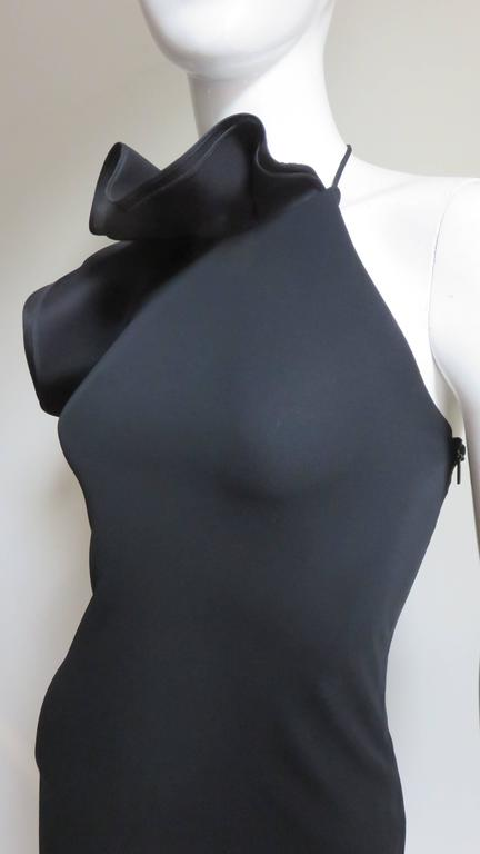 Gucci Organza Ruffle Neck Halter Dress In Good Condition In New York, NY