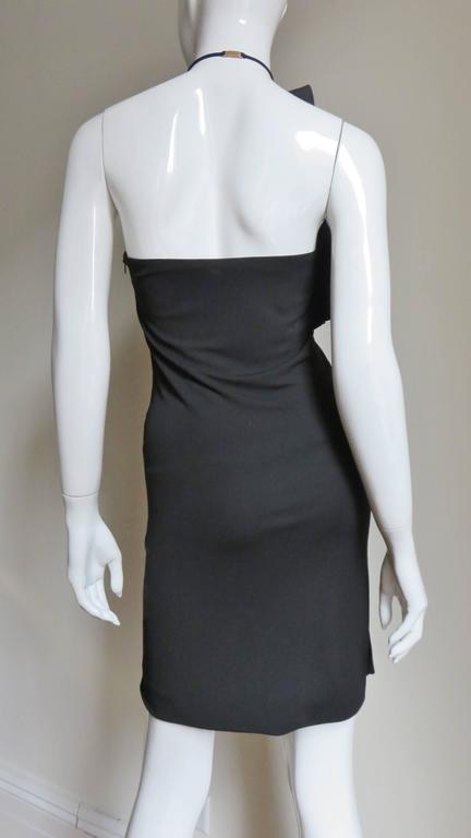 Gucci Organza Ruffle Neck Halter Dress 3