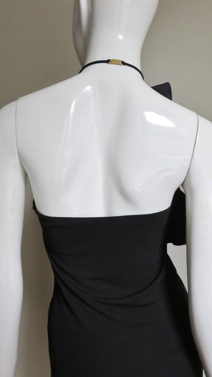 Gucci Organza Ruffle Neck Halter Dress 4