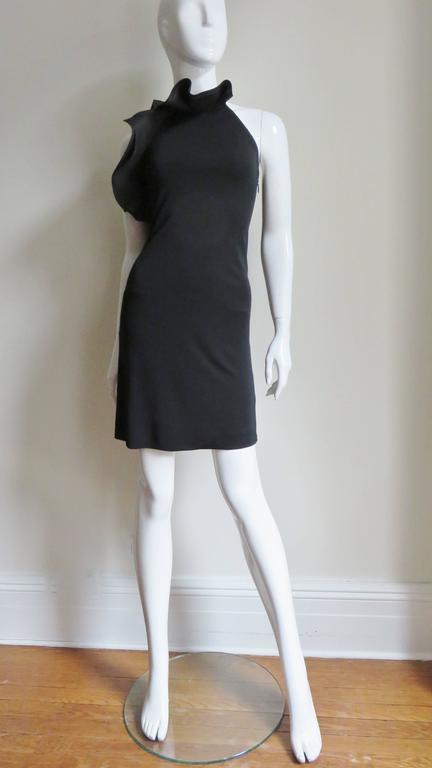 Gucci Organza Ruffle Neck Halter Dress 2