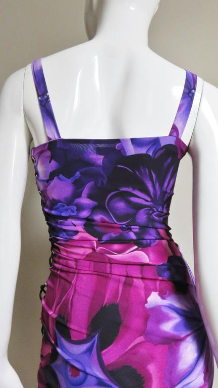Versace Side Lace up Silk Dress For Sale 6