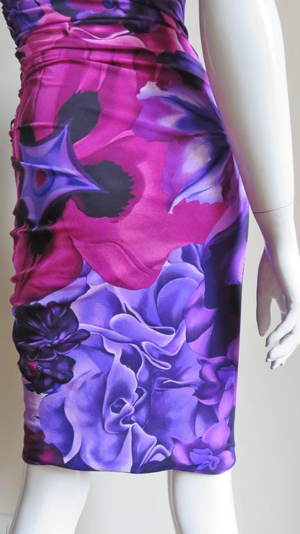Versace Side Lace up Silk Dress For Sale 8