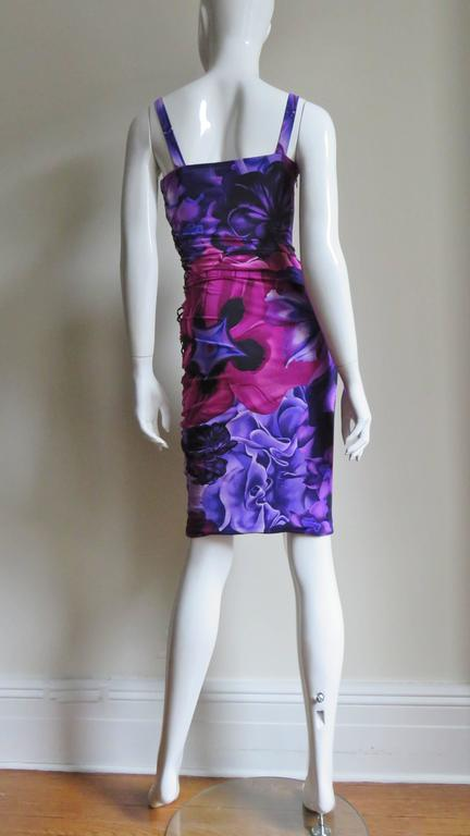 Versace Side Lace up Silk Dress For Sale 9