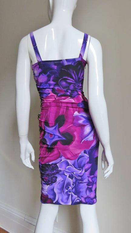 Versace Side Lace up Silk Dress For Sale 5