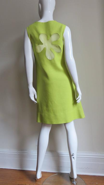 1960's B. H. Wragge Mod Flower Cutout Dress For Sale 4