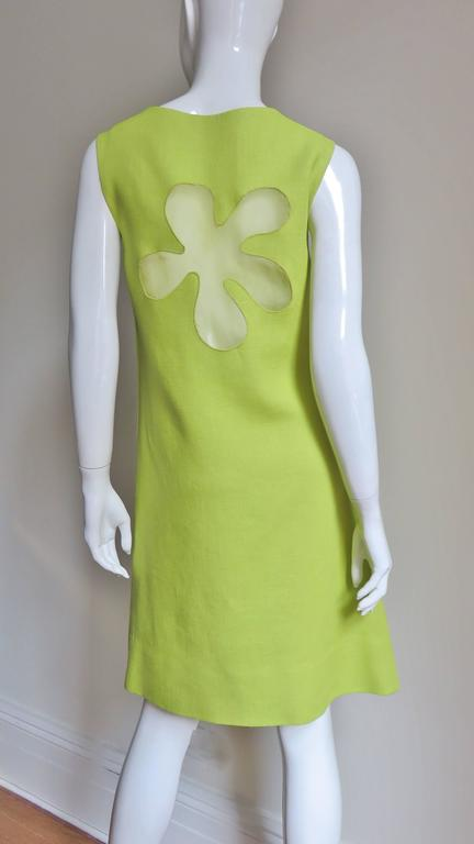 1960's B. H. Wragge Mod Flower Cutout Dress For Sale 3