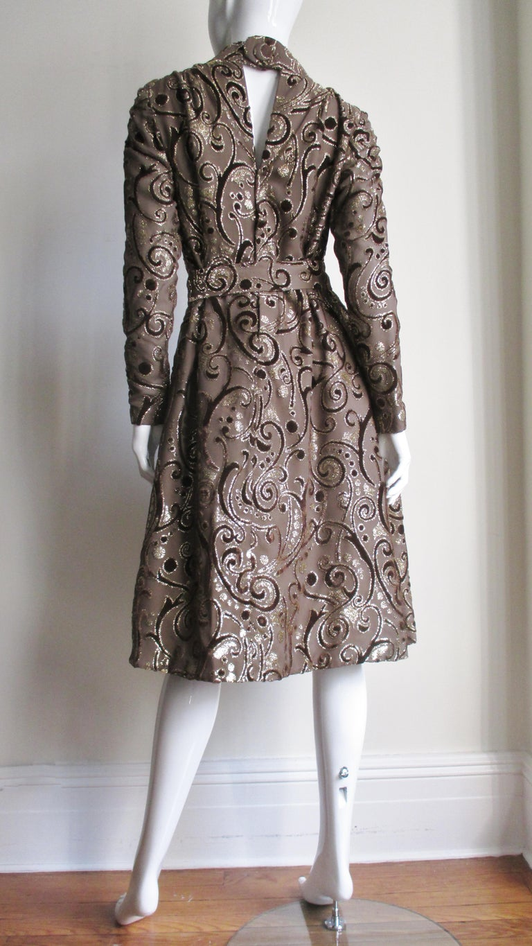 1970's Pauline Trigere Belted Silk Tent Dress For Sale 12