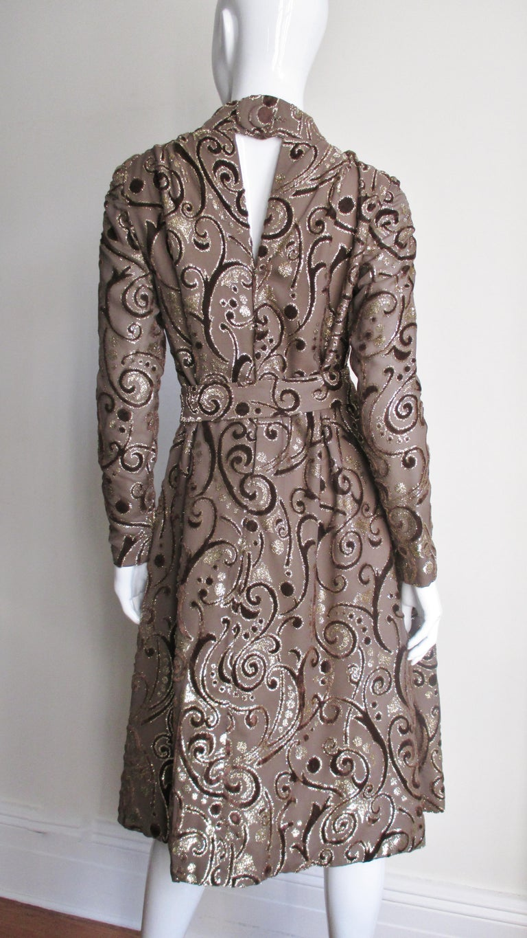 1970's Pauline Trigere Belted Silk Tent Dress For Sale 8