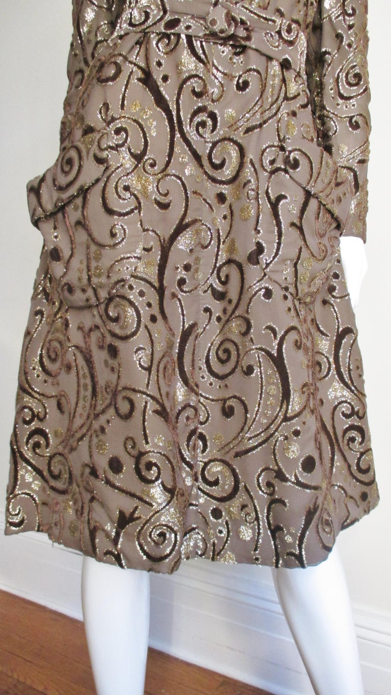 1970's Pauline Trigere Belted Silk Tent Dress For Sale 2