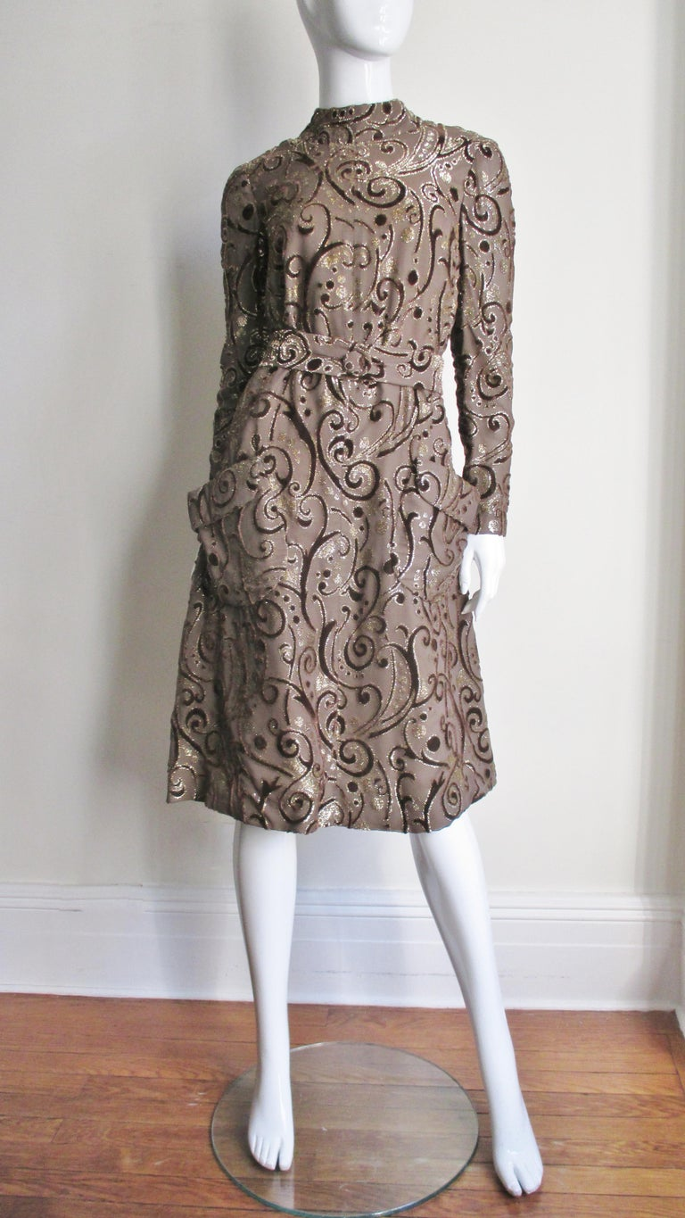 1970's Pauline Trigere Belted Silk Tent Dress For Sale 7