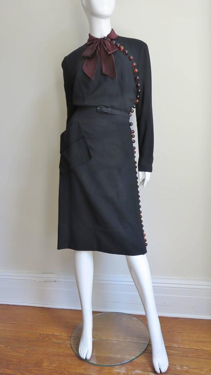 1950 S Eisenberg Originals Dress With Button Side For Sale