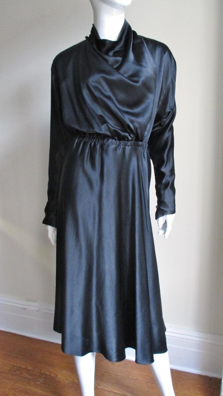 1970s Halston Silk Drape Front Wrap Dress For Sale At 1stdibs