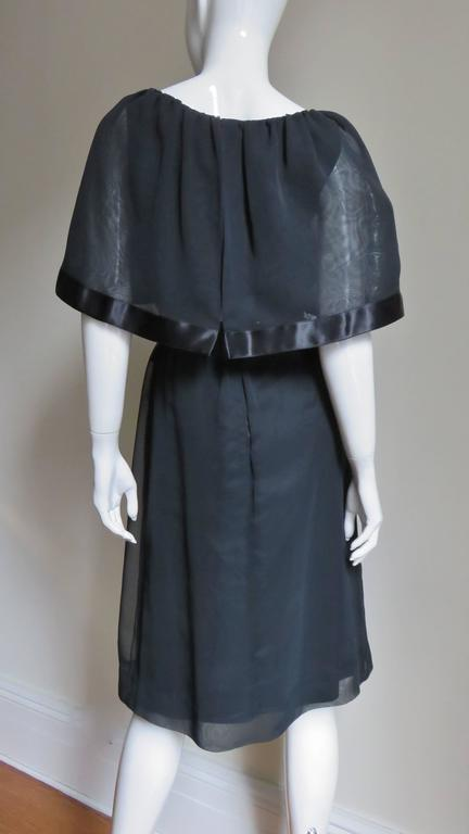 Travilla Dress with Capelet 1970s For Sale 3