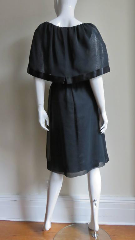 Travilla Dress with Capelet 1970s For Sale 6