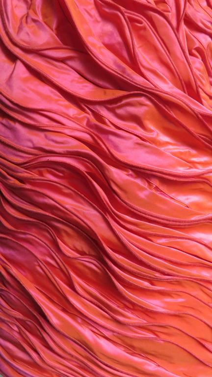 Louis Feraud 1980s Wire Edge Ruffles Dress For Sale 1