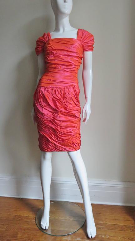 Women's Louis Feraud 1980s Wire Edge Ruffles Dress For Sale