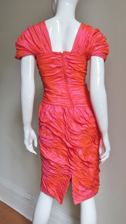 Louis Feraud 1980s Wire Edge Ruffles Dress For Sale 3