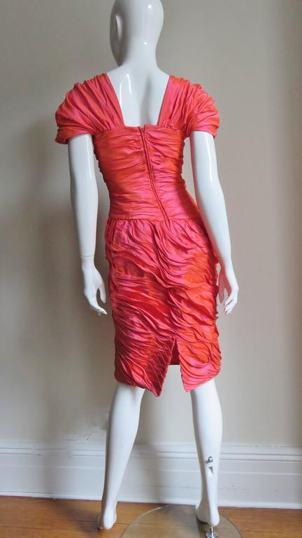 Louis Feraud Adjustable Ruffles Dress 1980s For Sale 7