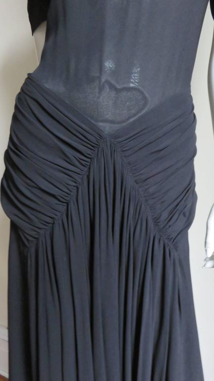 1940's Romantic Gothic Black Maxi at 1stdibs