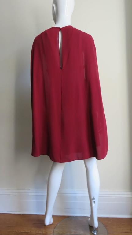 Stunning Valentino Dress With Cape For Sale 4