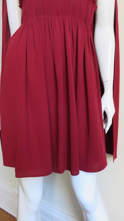 Red Stunning Valentino Dress With Cape For Sale