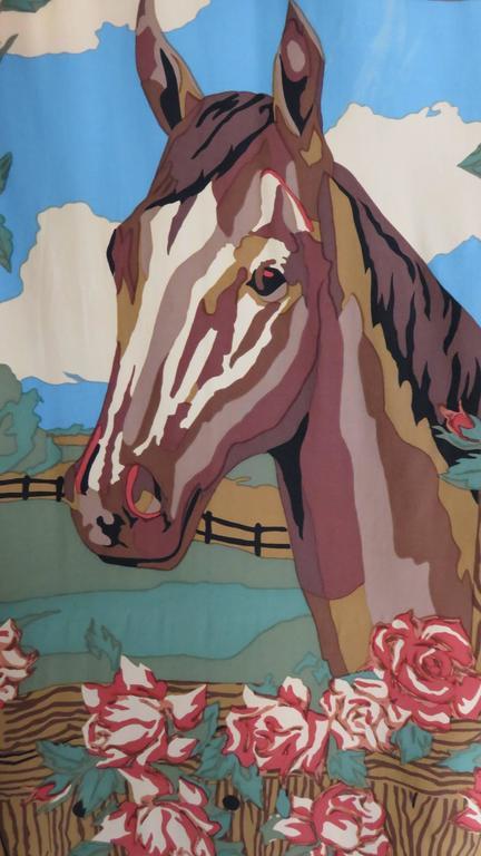 1980s Todd Oldham Vintage Horse Back Silk Shirt 6