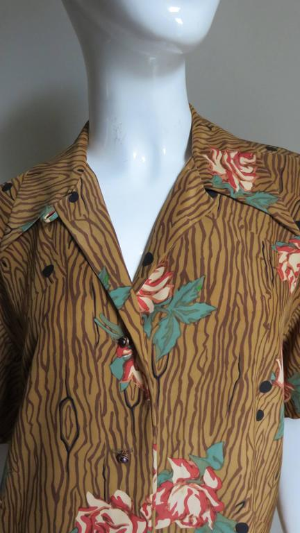 1980s Todd Oldham Vintage Horse Back Silk Shirt 2