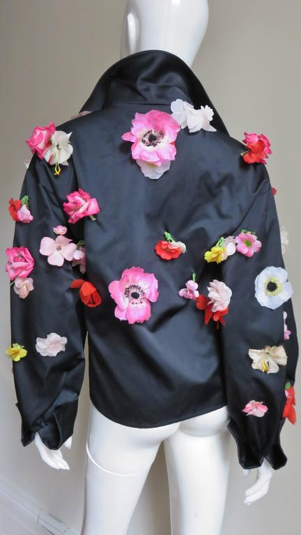 1970's New Bill Blass Flower Covered Shirt or Jacket For Sale 4