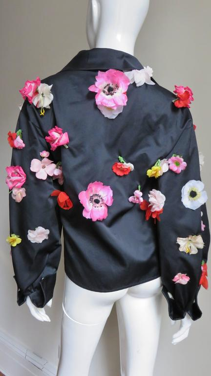 1970's New Bill Blass Flower Covered Shirt or Jacket For Sale 2