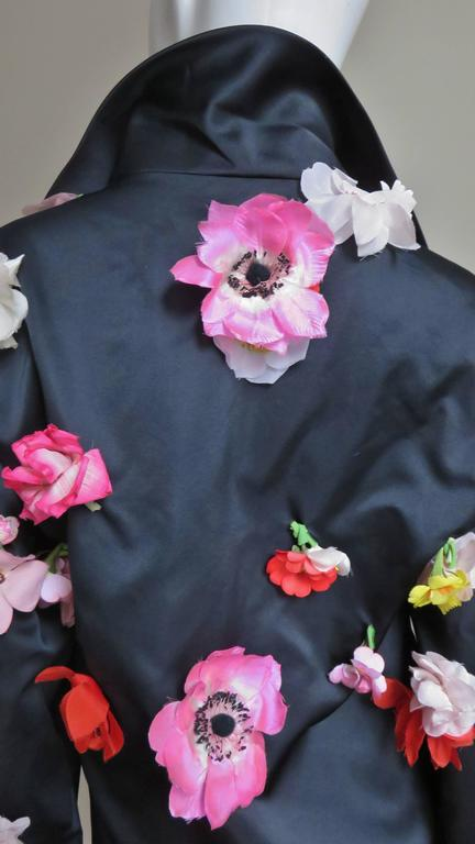 1970's New Bill Blass Flower Covered Shirt or Jacket For Sale 3