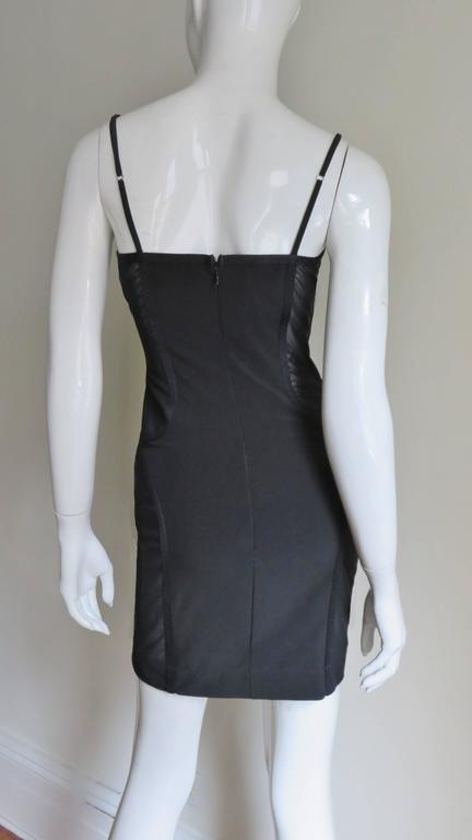 1990s Moschino Vintage Coset Style Dress With Sheer Panels 7