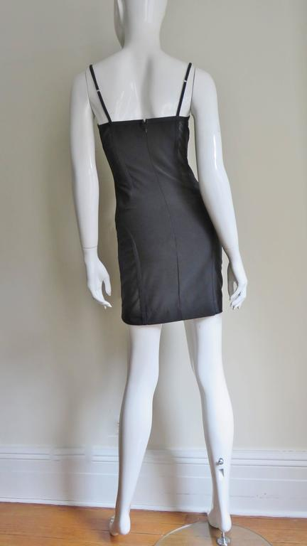 1990s Moschino Vintage Coset Style Dress With Sheer Panels 9