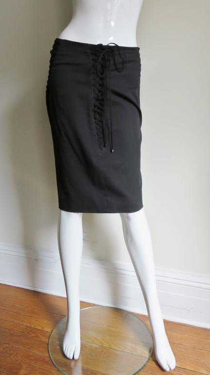 Dolce & Gabbana Lace Up Skirt In Good Condition For Sale In New York, NY